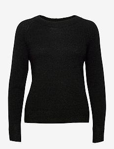 SLFLULU LS KNIT O-NECK  NOOS - trøjer - black