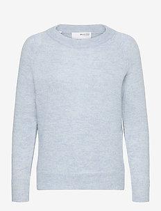 SLFLULU LS KNIT O-NECK - truien - cashmere blue