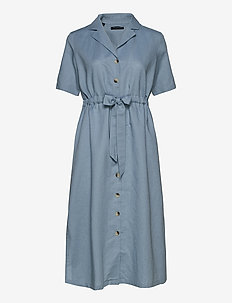 SLFCALLY SS MIDI DRESS RT - FADED DENIM