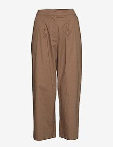 SLFERICA HW CROPPED PANT EX - vide bukser - raw umber