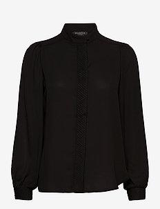 SLFAMAYA LS SHIRT B - blouses med lange mouwen - black