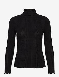 SLFLINNA LS T-NECK B - rollkragenpullover - black