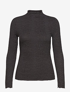SLFLINNA LS T-NECK B - turtlenecks - dark grey melange