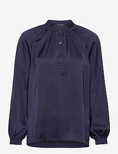 SLFHARMONY LS SHIRT B - pitkähihaiset puserot - maritime blue