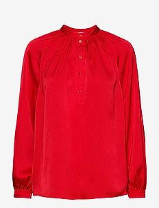 SLFHARMONY LS SHIRT B - långärmade blusar - true red