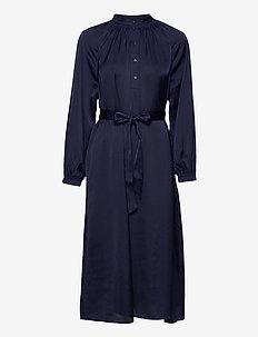 SLFHARMONY LS SHORT DRESS B - midiklänningar - maritime blue