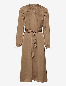 SLFHARMONY LS SHORT DRESS B - midiklänningar - tigers eye