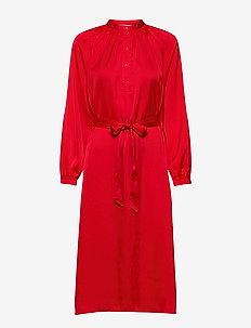 SLFHARMONY LS SHORT DRESS B - midiklänningar - true red