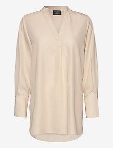 SLFPAYTON LS LONG TOP B - pitkähihaiset paidat - sandshell