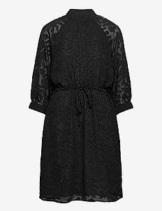 SLFREESE-DAMINA 3/4 SHORT DRESS B - lyhyet mekot - black