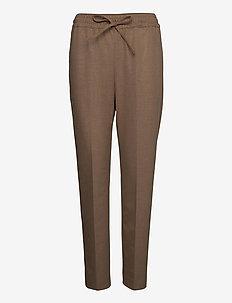 SLFJULIE MW COMFORT STRAIGHT PANT TE B - spodnie na co dzień - tigers eye