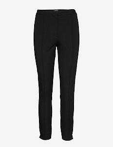 SLFILUE MW PINTUCK PANT B NOOS - broeken med straight ben - black