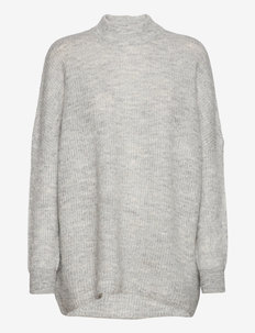 SLFLULU ENICA LS KNIT O-NECK B NOOS - gensere - light grey melange