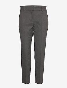 SLFRIA MW CROPPED PANT DGM B NOOS - rette bukser - dark grey melange