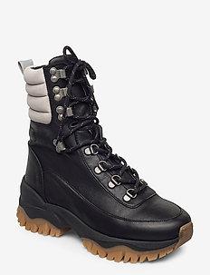 SLFAMAL HIKING BOOT B - hiking/walking shoes - black