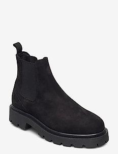 SLFEMMA CHELSEA NUBUCK BOOT B - chelsea støvler - black