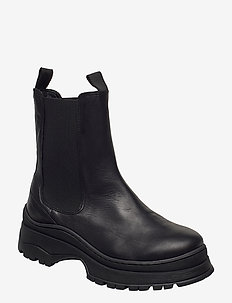 SLFLUCY LEATHER CHELSEAOOT - chelsea boots - black