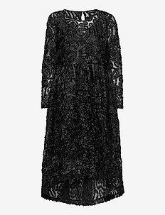 SLFCYNTHIA LS MIDI DRESS - cocktail-kjoler - black
