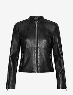 SLFIBI LEATHER JACKET B - skinnjackor - black