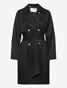 SLFWEKA TRENCHCOAT B NOOS - trenchcoats - black
