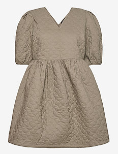 SLFJULIA 2/4 QUILT DRESS EX - short dresses - olive night
