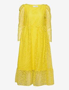 SLFMYA LS ANKLE DRESS - midiklänningar - green sheen