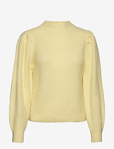 SLFLIPA LS KNIT T-NECK B - trøjer - pastel yellow