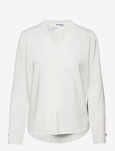 SLFLUNA LS  TOP NOOS - blouses med lange mouwen - snow white