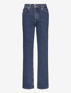 SLFKATE HW STRAIGH LONG HARBOURLU JEAN - straight jeans - medium blue denim