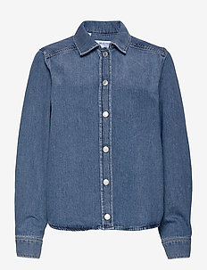SLFMILLE LS LAURELLUE DENIM SHIRT U - jeansskjortor - medium blue denim