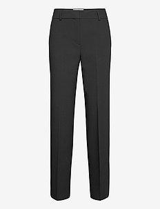SLFRITA MW WIDE PANTLACK - bukser med lige ben - black