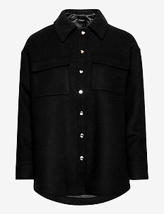 SLFTESSA WOOL SHIRT JACKET B - wool jackets - black