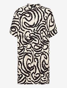 SLFMARILYN-VIOLA 2/4 DRESS EX - skjortklänningar - sandshell