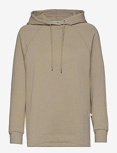 SLFJASIE HOOD SWEAT S - hoodies - white pepper