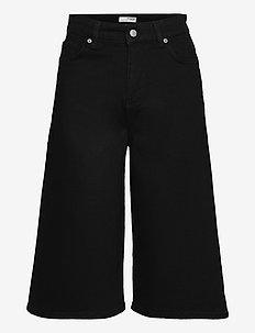 SLFLAUREL HW LONGLACK DENIM SHORTS U - jeansowe szorty - black denim
