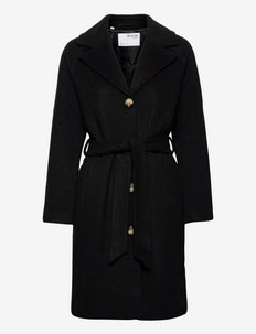 SLFMILANOOL COAT - winterjassen - black
