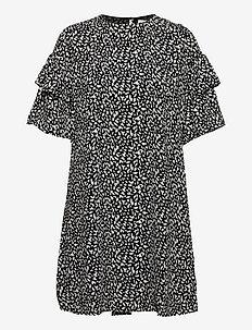 SLFCARLA 2/4 SHORT DRESS M - vardagsklänningar - black