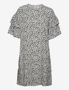 SLFCARLA 2/4 SHORT DRESS M - vardagsklänningar - snow white