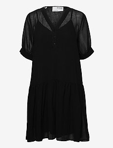 SLFABIGAIL 2/4 SHORT DRESS M - sommarklänningar - black