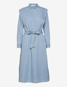 SLFTIME LS DRESS U - alltagskleider - medium blue denim
