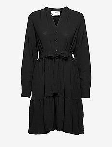 SLFMIVIA LSHORT DRESS - sommerkjoler - black