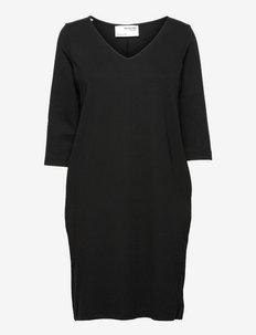 SLFCARO-TUNNI 3/4 SHORT DRESS B - sommerkleider - black