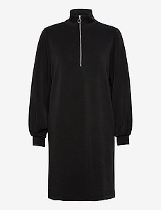 SLFTENNY LS ZIP DRESS EX - midiklänningar - black