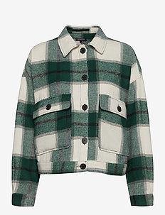 SLFGIA LS OVERSHIRT EX - overshirts - hunter green