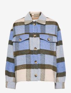 SLFREMI CHECK HIRT JACKET - overshirts - brunnera blue