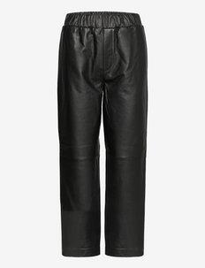 SLFKALIE HW LEATHER PANTS - skinnbyxor - black