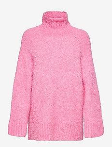 SLFMYAH LS KNIT HIGH NECK  G - turtlenecks - prism pink