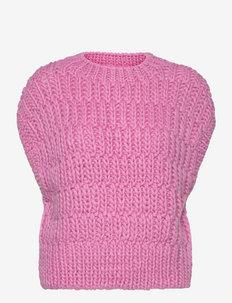 SLFPEARL KNIT VEST - getrickte tops - prism pink