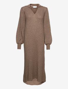 SLFSELENE LS KNIT DRESS - sommerkjoler - amphora