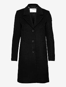SLFSASJA WOOL COAT BOOZT B - vinterfrakker - black